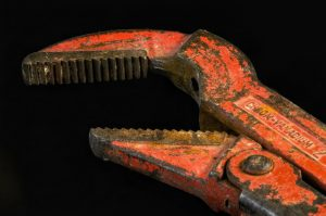 Pipe wrench in Haarlem